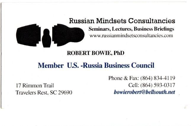 bowie vizitka Russian Mindsets