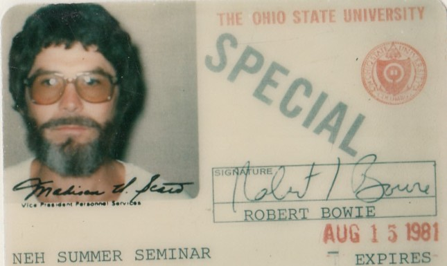 robert bowie id Ohio State summer 1981